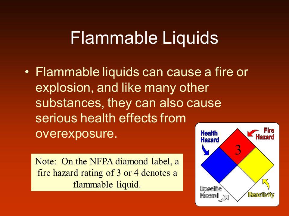 Flammable Liquids A flammable liquid is any liquid having a flashpoint below 100°F.