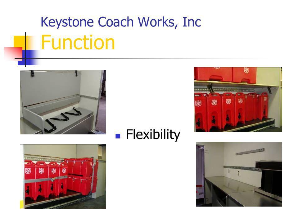Keystone Coach Works, Inc Function Flexibility