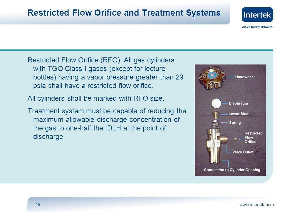 www.intertek.com19 Restricted Flow Orifice and Treatment Systems Restricted Flow Orifice (RFO).
