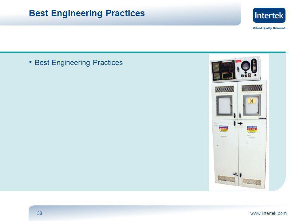 www.intertek.com38 Best Engineering Practices