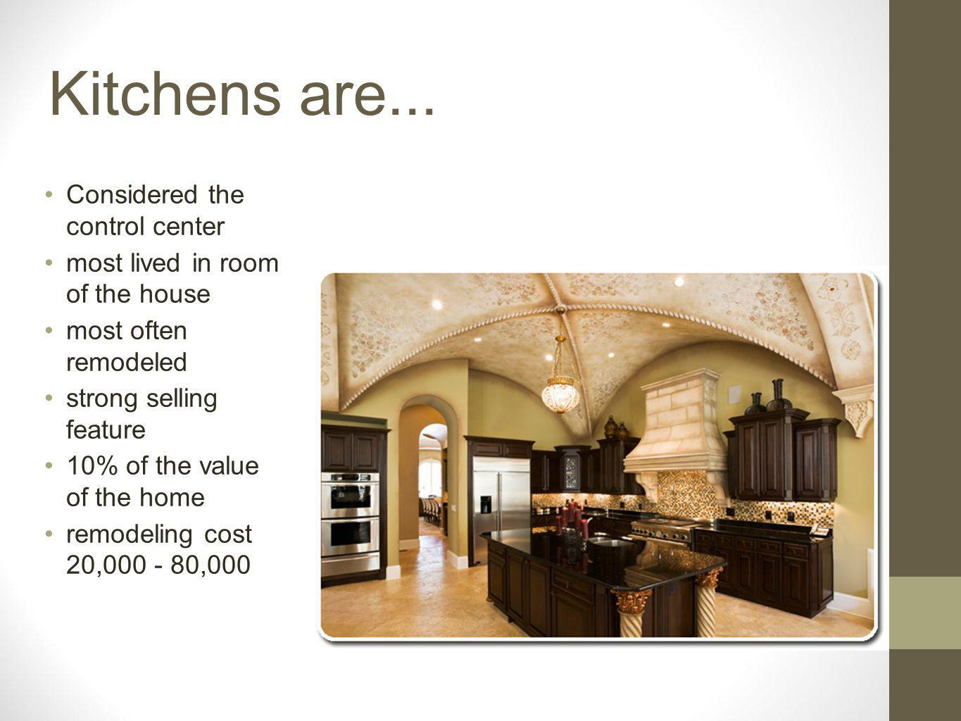 Kitchens are...