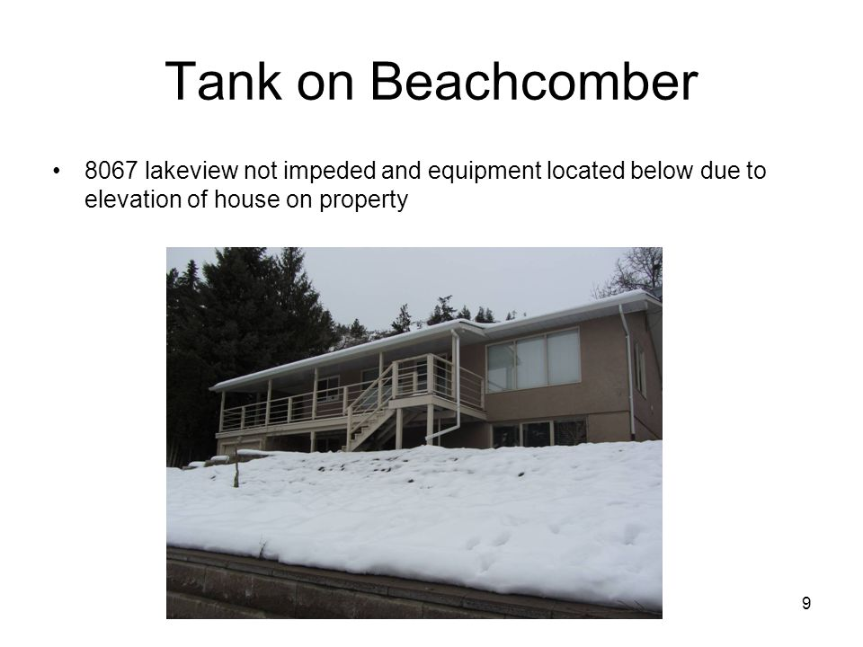 10 Tank on Beachcomber Below visual lines from 8067 windows/balcony No views affected