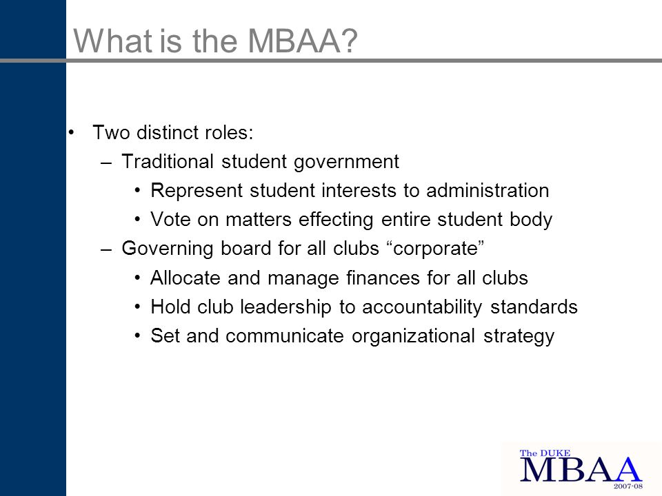 What is the MBAA.