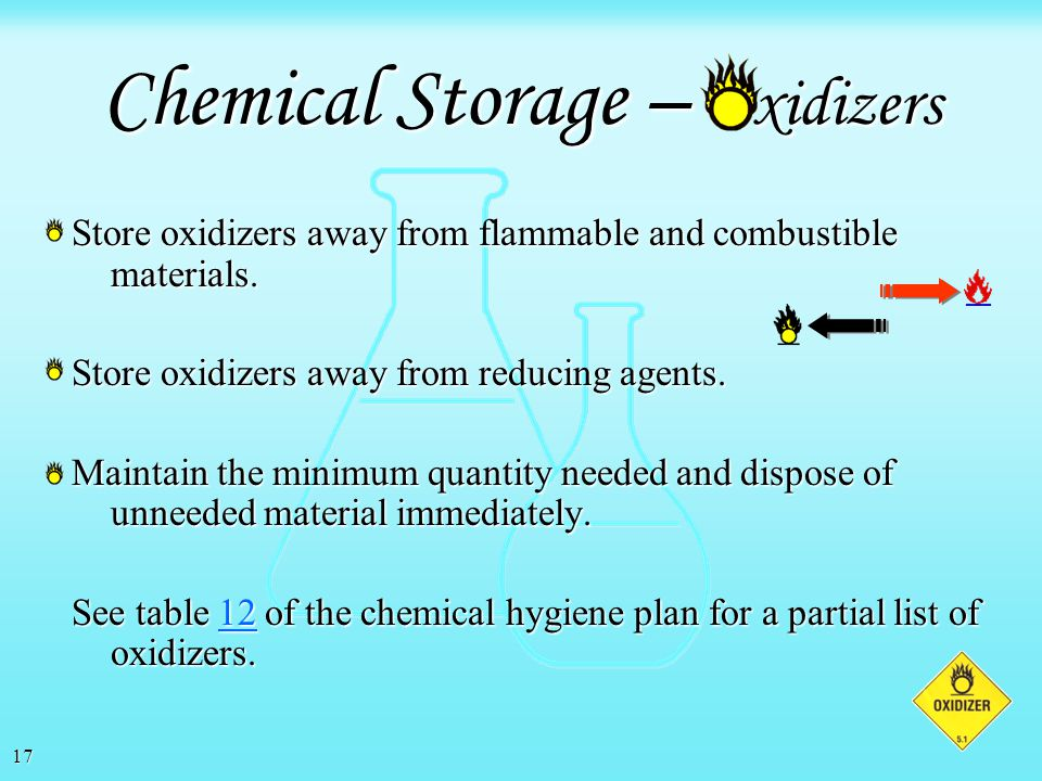16 As a general rule of thumb, no more than 10 gallons of flammable liquids should be stored outside of an approved flammable storage cabinet. Hospita