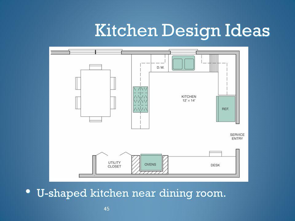 Kitchen Design Ideas U-shaped kitchen near dining room. U-shaped kitchen near dining room. 45