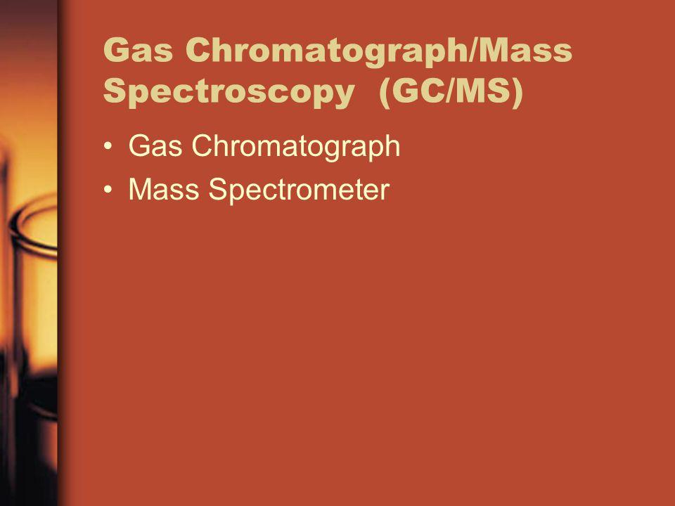 Gas Chromatograph/Mass Spectroscopy (GC/MS) Gas Chromatograph Mass Spectrometer