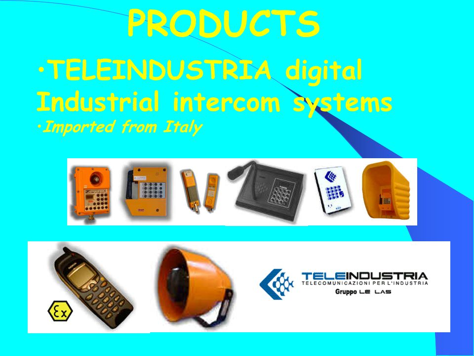 TELEINDUSTRIA digital Industrial intercom systems Imported from Italy PRODUCTS