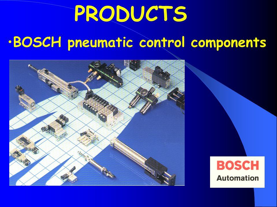 BOSCH pneumatic control components PRODUCTS