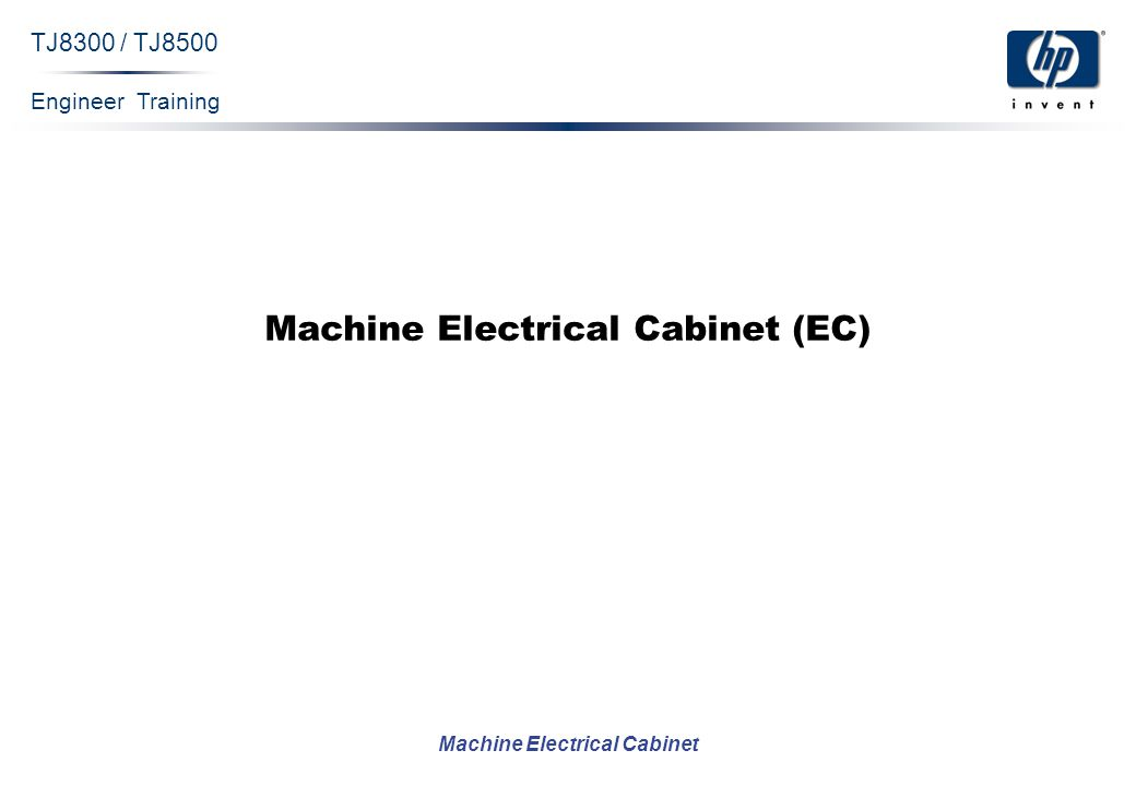 Engineer Training Machine Electrical Cabinet TJ8300 / TJ8500 Machine Electrical Cabinet (EC)