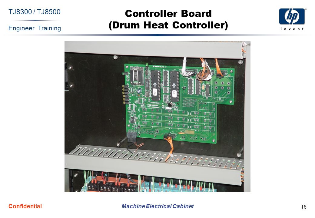 Engineer Training Machine Electrical Cabinet TJ8300 / TJ8500 Confidential 16 Controller Board (Drum Heat Controller)