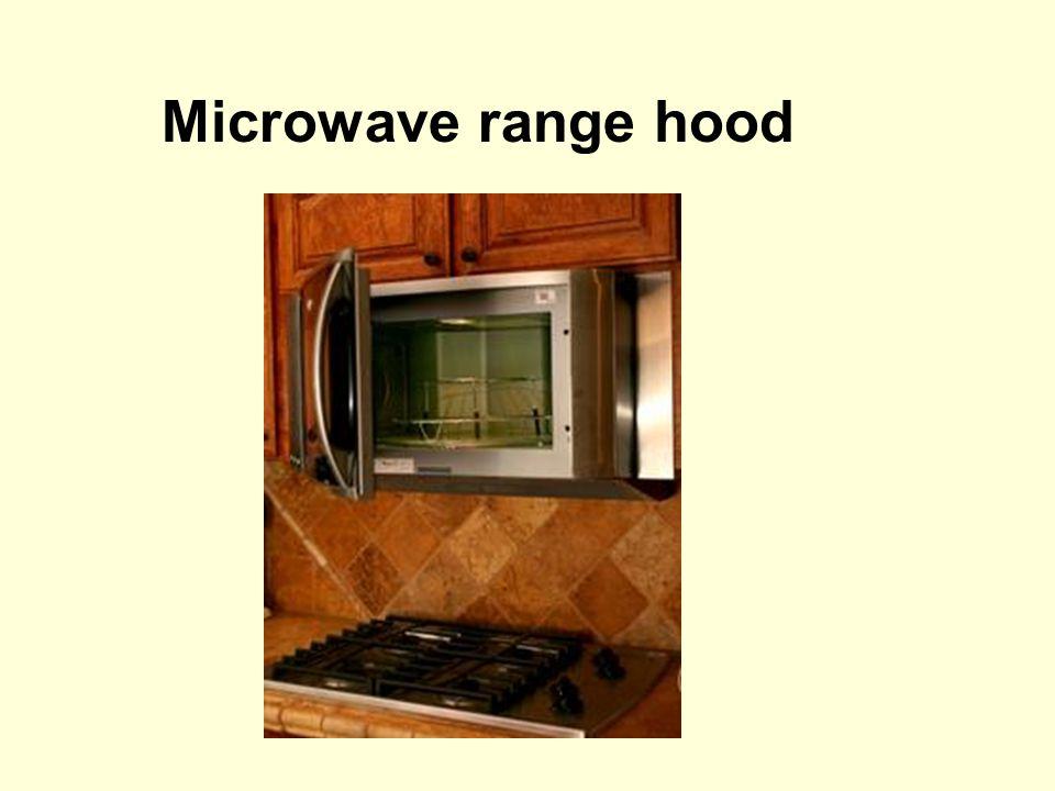 Microwave range hood