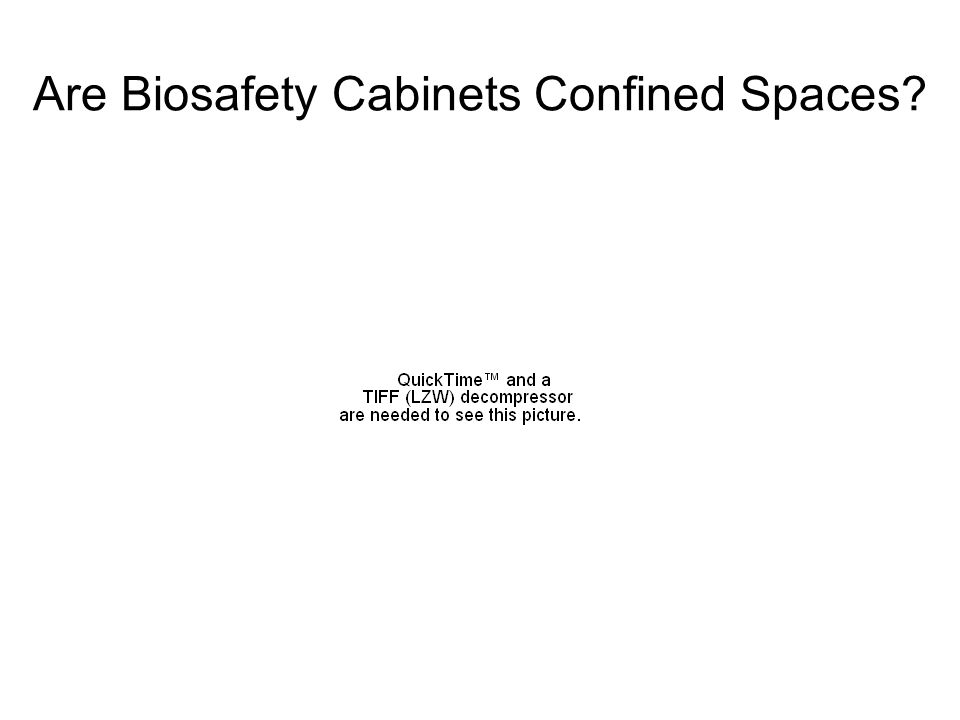 Are Biosafety Cabinets Confined Spaces
