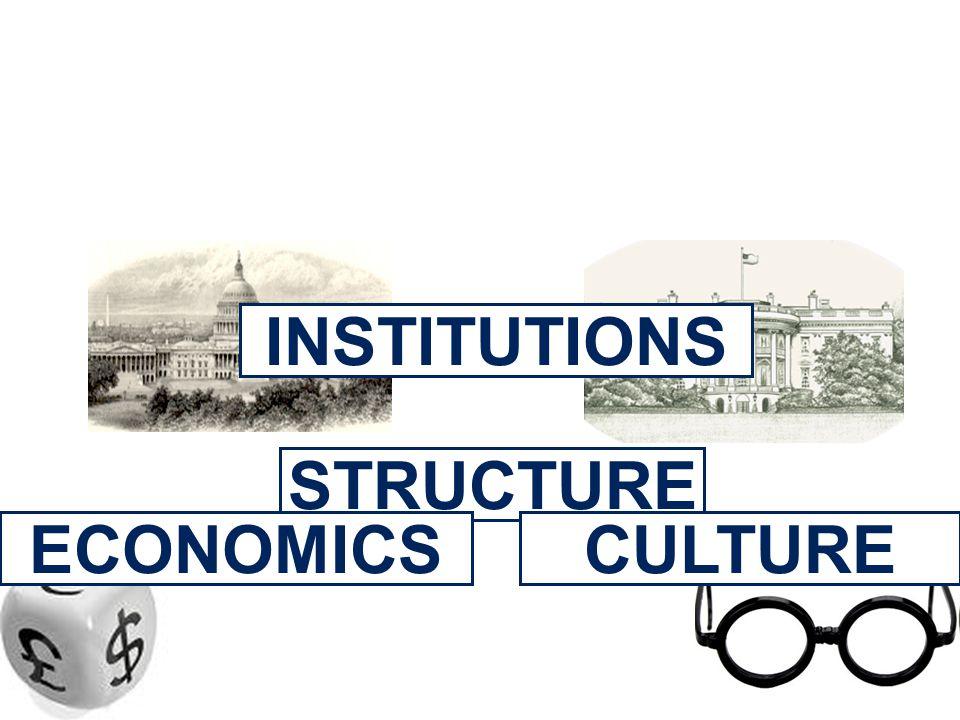 STRUCTURE INSTITUTIONS ECONOMICSCULTURE