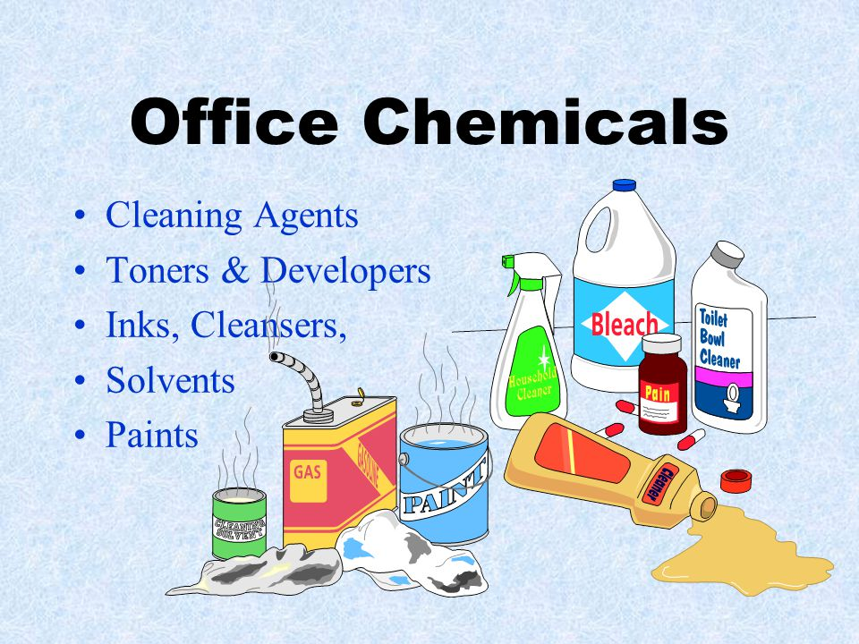 Office Chemicals Cleaning Agents Toners & Developers Inks, Cleansers, Solvents Paints