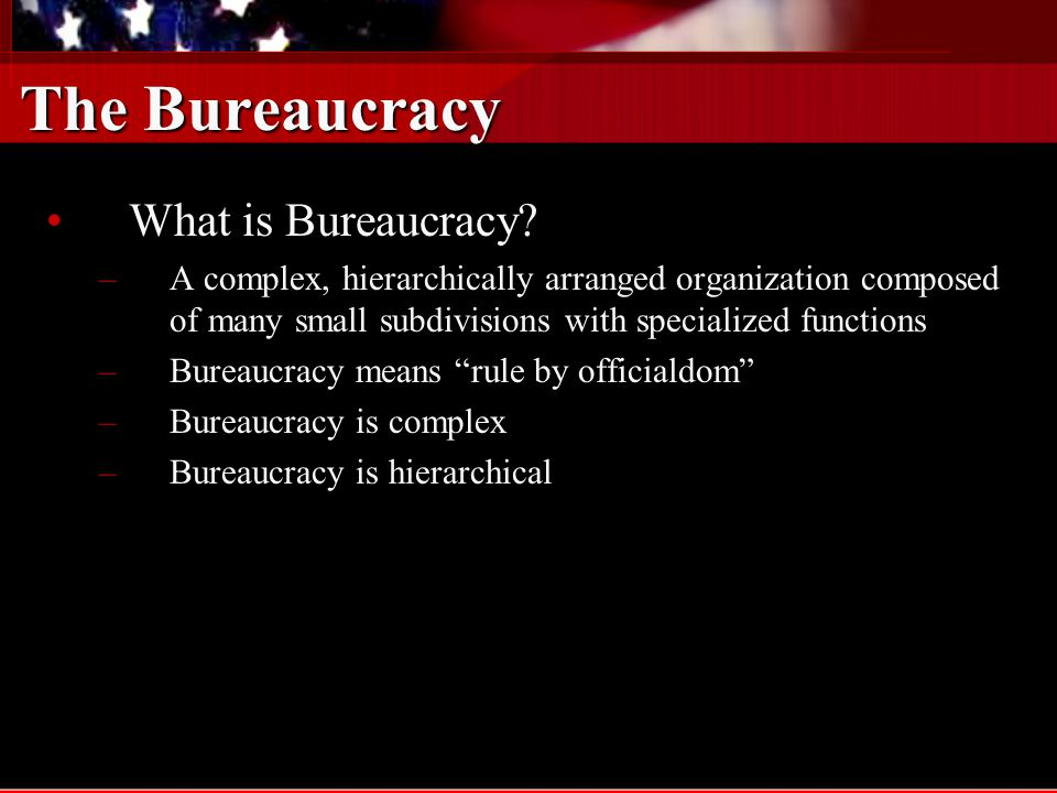 Texas Bureaucracy Administrative Politics - The LegislatureAdministrative Politics - The Legislature –All state agencies that are not established by the Constitution are creations of the legislature –Sweeping legislative power –The difficulty of vigorous oversight –Oversight mechanisms –Sunset review –Legislative Budget Board –Legislative Budget Board