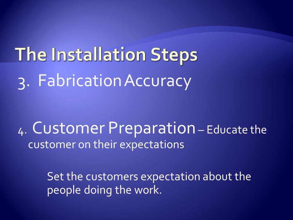 3. Fabrication Accuracy 4.