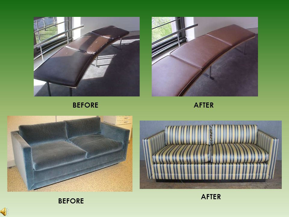BEFORE AFTER F.R.A. Project Profile #2 Major reupholstery project for a Fortune 500 company 75 Knoll work stations reupholstered with lightning speed