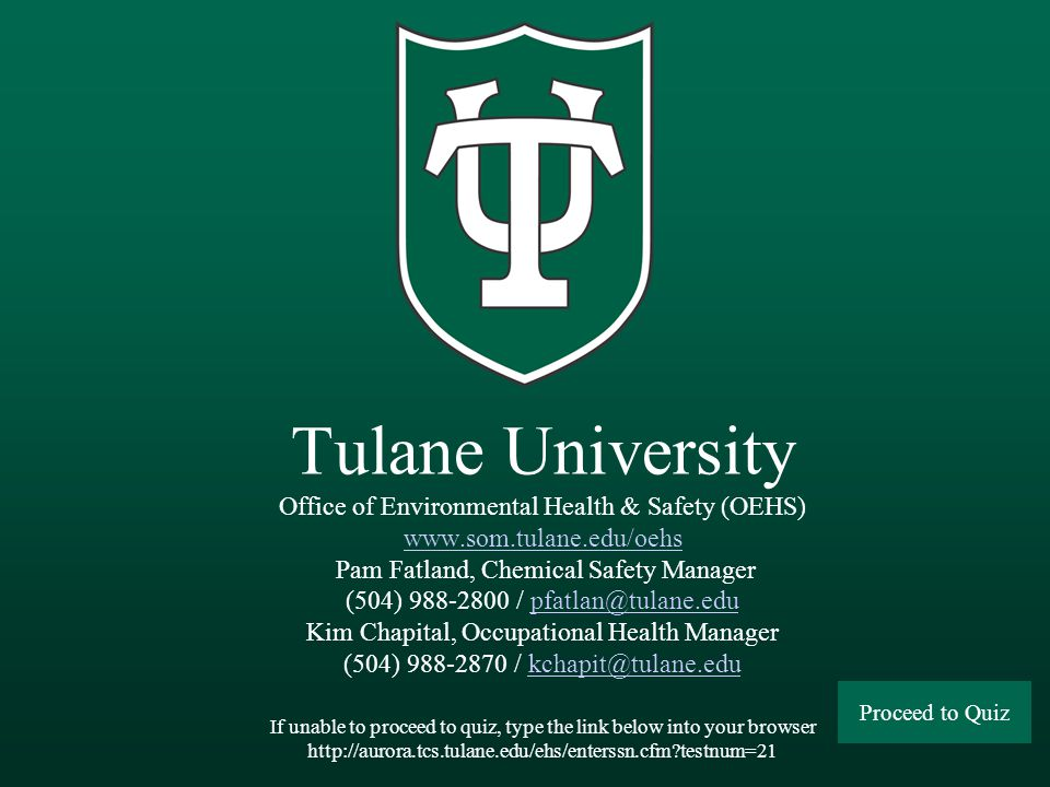 Tulane University - Office of Environmental Health & Safety (OEHS) SUMMARY BSCs are selected based upon the hazards imposed by the infectious agent(s)