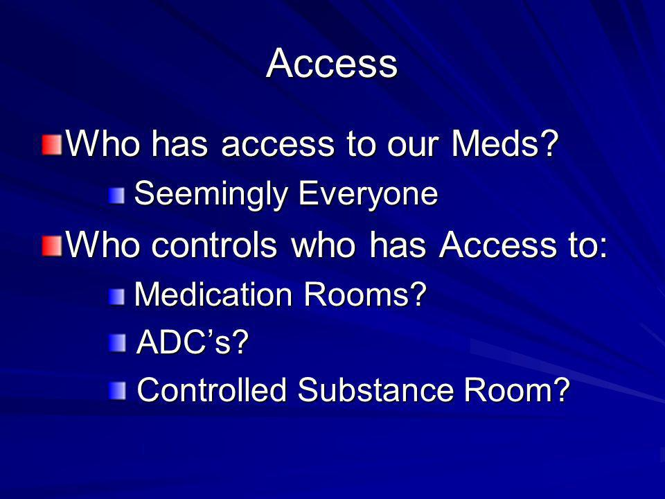 Access Who has access to our Meds.