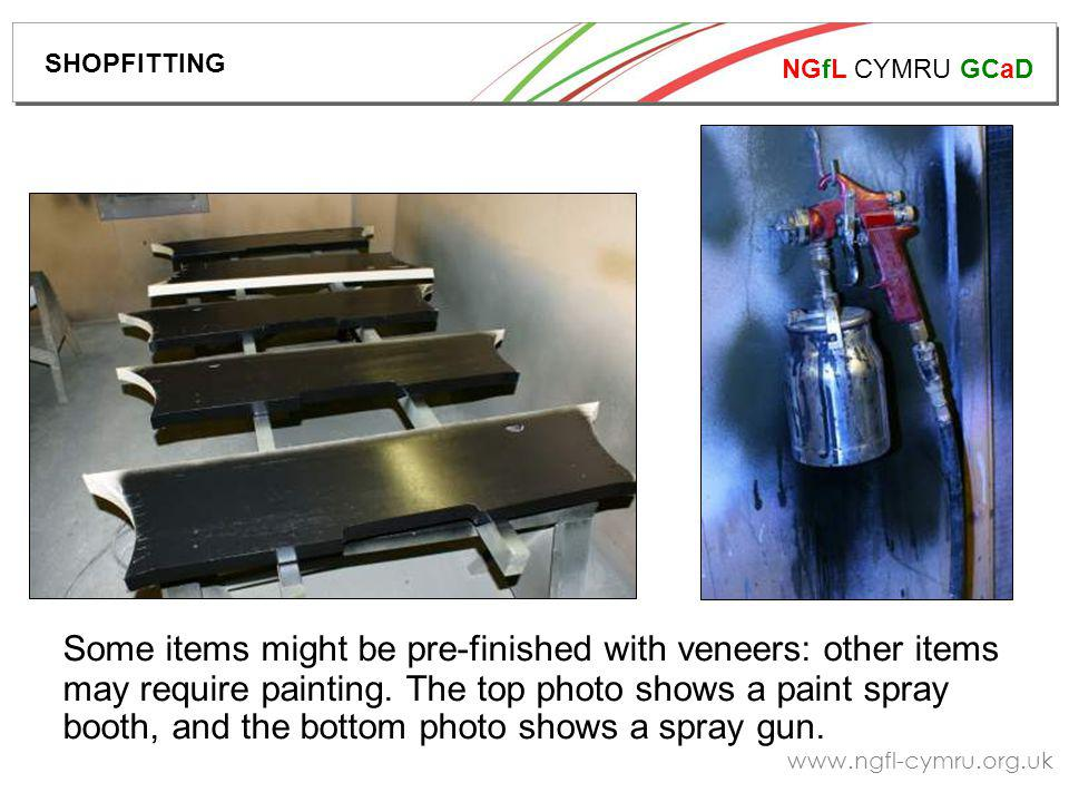 NGfL CYMRU GCaD   Some items might be pre-finished with veneers: other items may require painting.