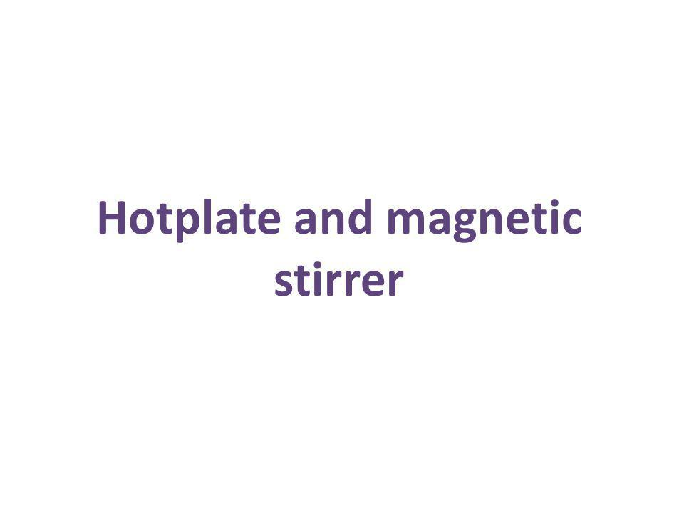 Hotplate and magnetic stirrer