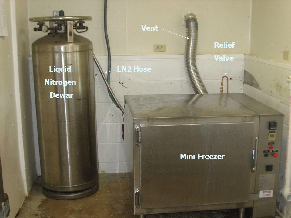 Mini Freezer Liquid Nitrogen Dewar Vent Relief Valve LN2 Hose