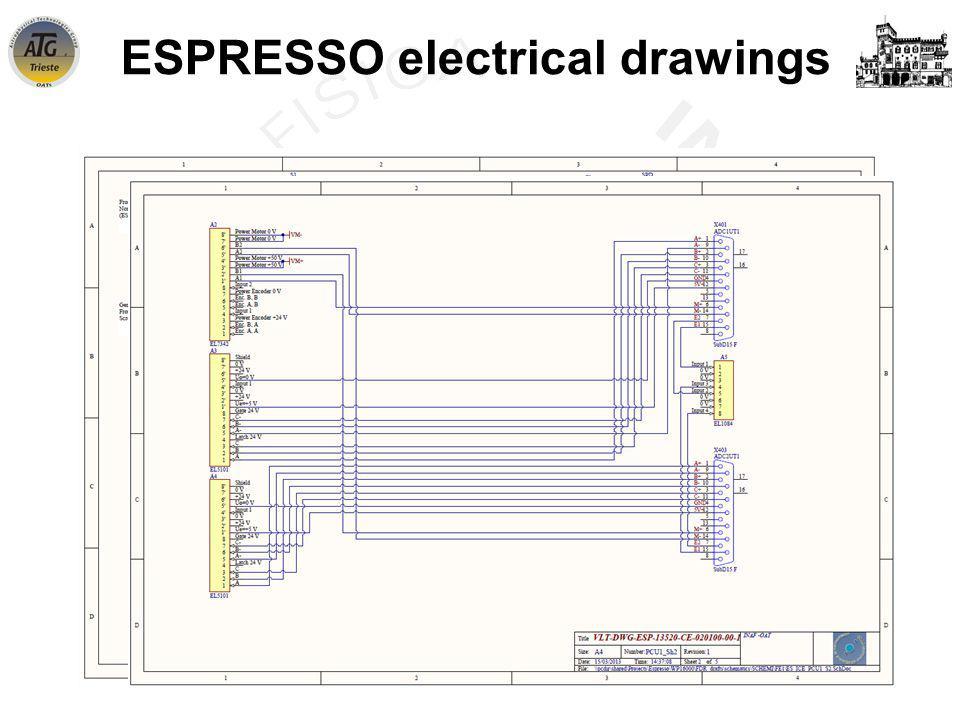 INAF-OATs WorkShop – Trieste - 21 June 2013 ESPRESSO electrical drawings