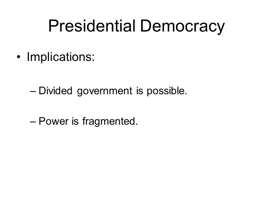 Parliamentary Systems Original parliamentary system: Great Britain.