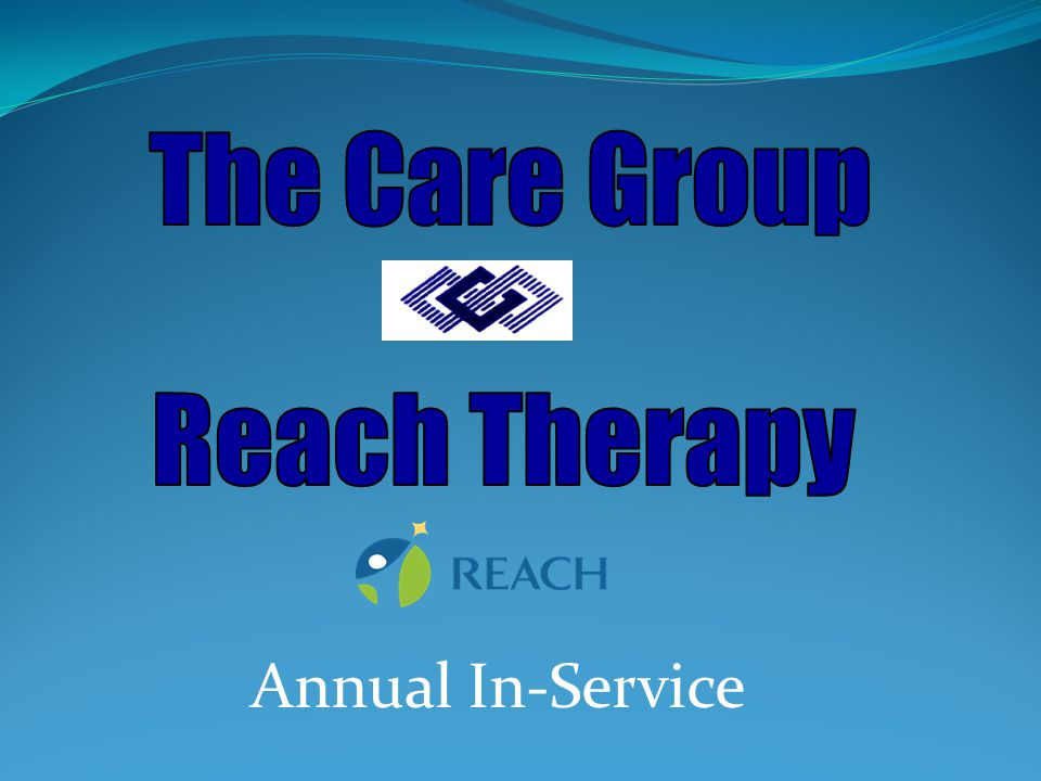 The commitment of The Care Group / Reach Therapy is to provide high quality, state of the art, outcome-oriented health care to patients requiring specialized nursing, adult and pediatric rehabilitation services, adult nursing services, durable medical equipment, or respiratory therapy services in the home or other alternative sites.