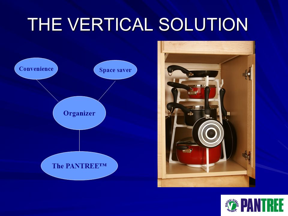 THE VERTICAL SOLUTION Organizer Convenience Space saver The PANTREE