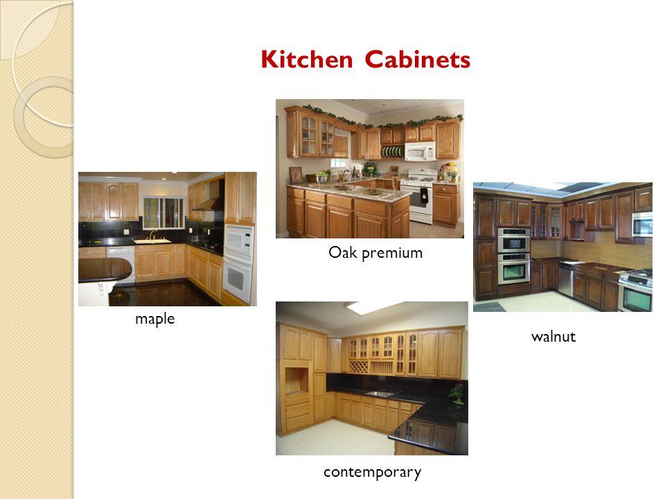 Kitchen Cabinets contemporary maple Oak premium walnut