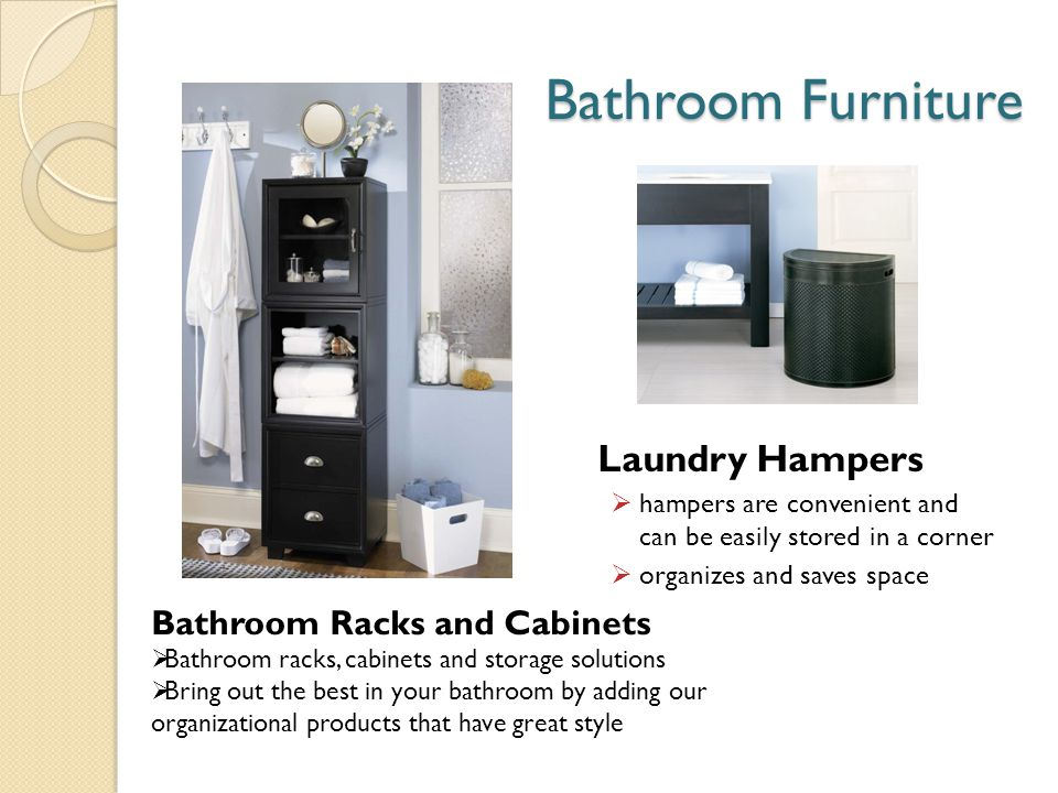Bathroom Furniture Laundry Hampers hampers are convenient and can be easily stored in a corner organizes and saves space Bathroom Racks and Cabinets B
