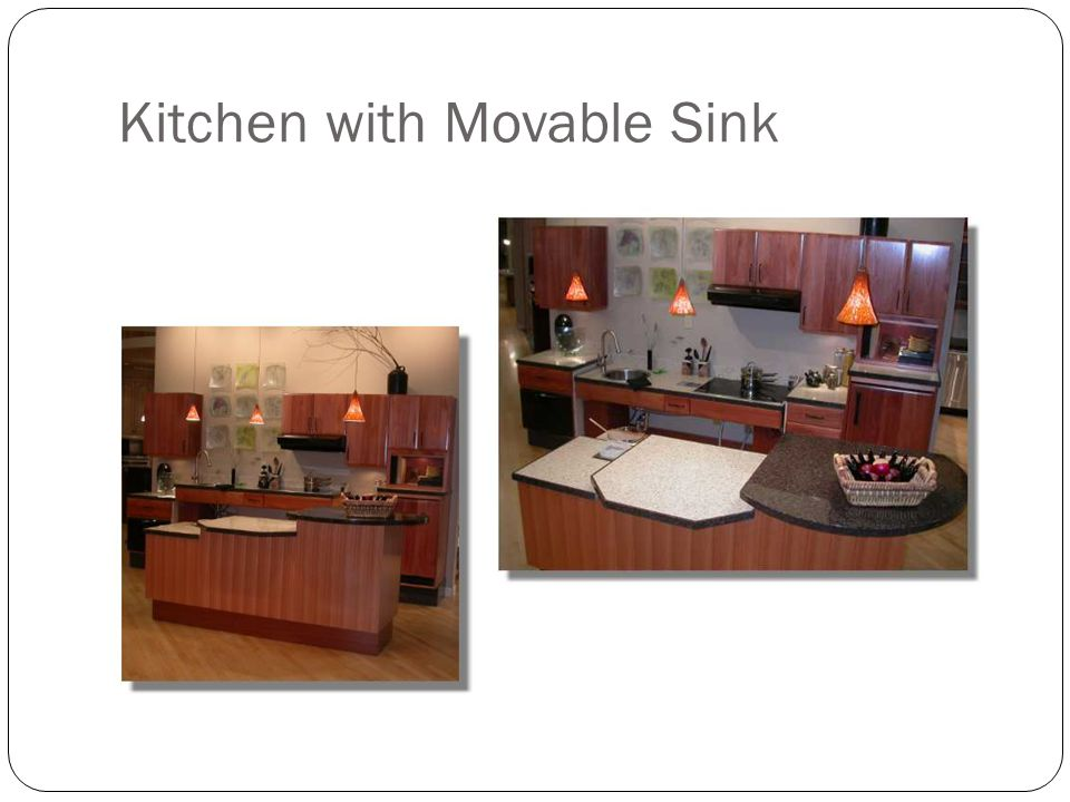 Kitchen with Movable Sink