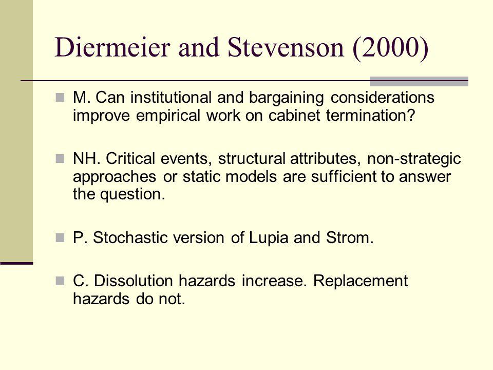 Diermeier and Stevenson (2000) M.