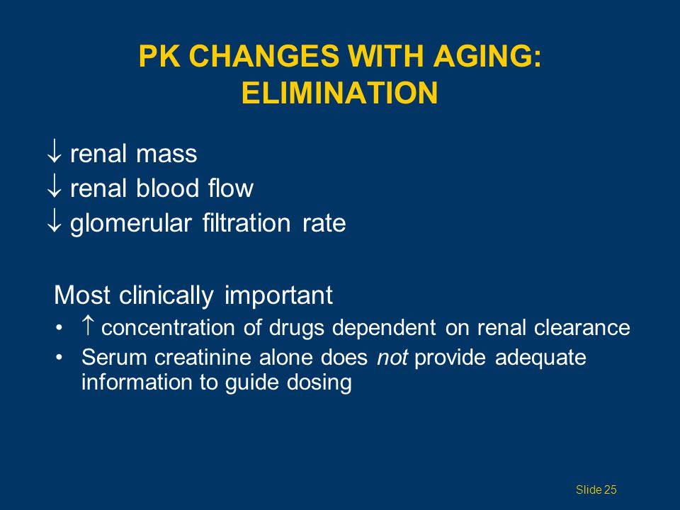 renal mass renal blood flow glomerular filtration rate Most clinically important concentration of drugs dependent on renal clearance Serum creatinine
