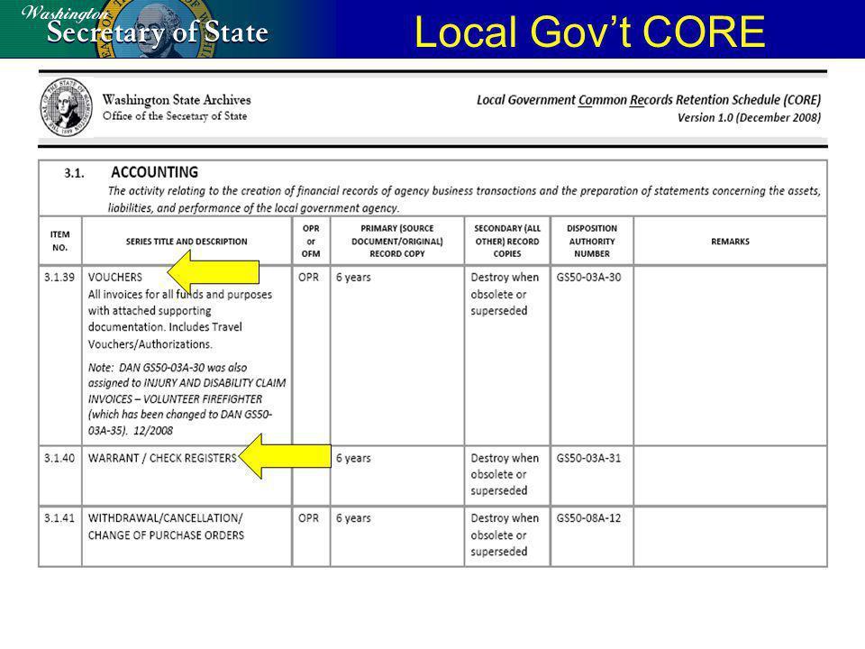 Local Govt CORE