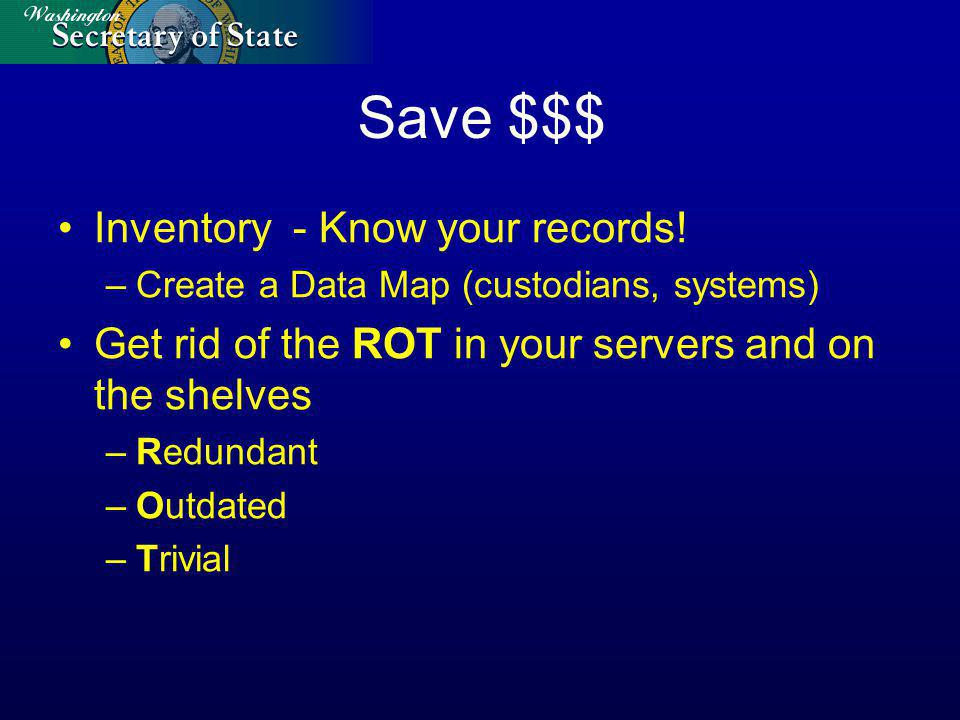 Save $$$ Inventory - Know your records.