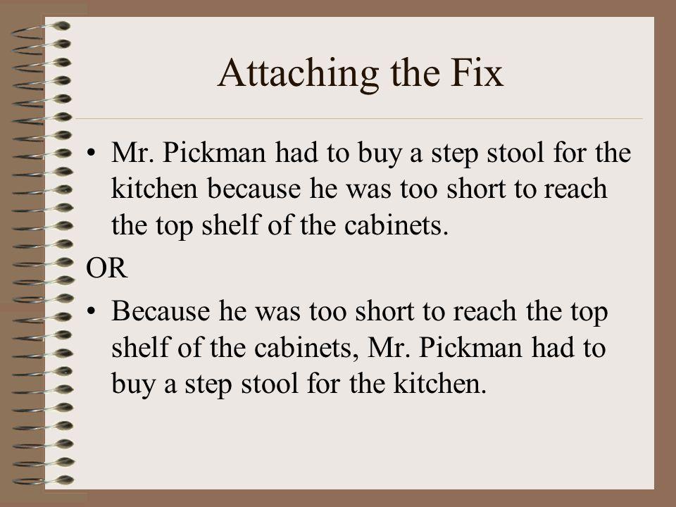Attaching the Fix Mr.