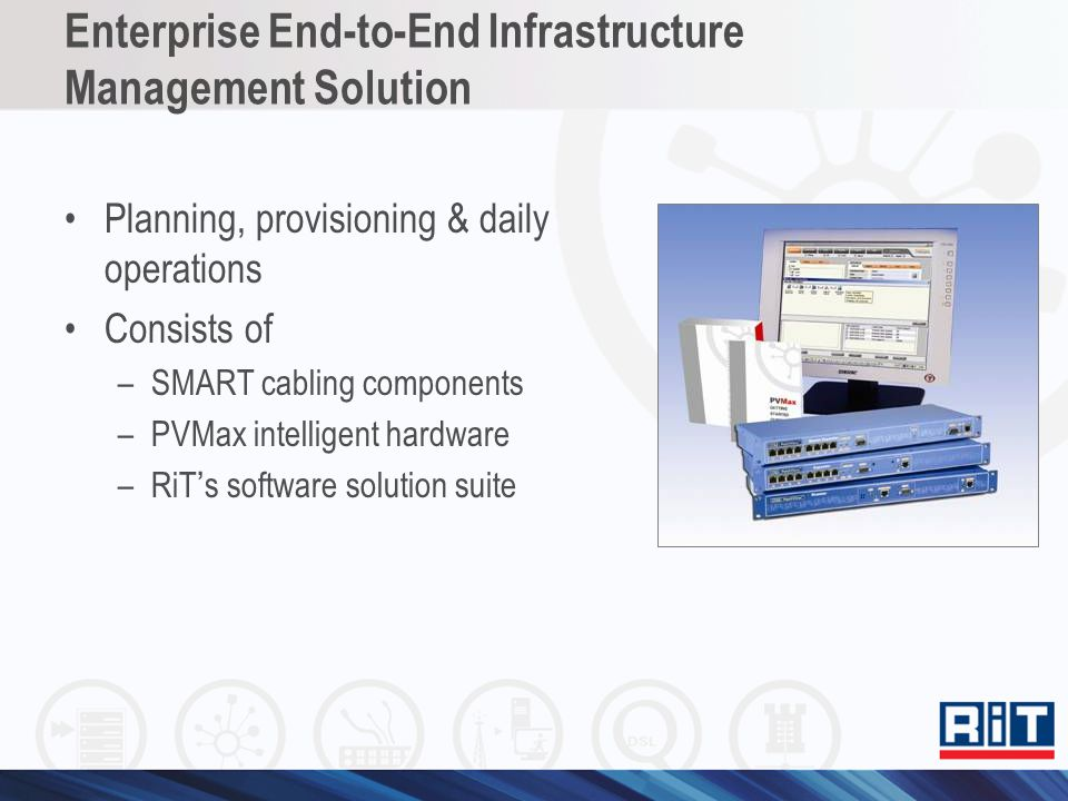 SMART Cabling System Comprehensive, Reliable, Advanced Includes a broad range of options for every component –Category 6A, 6 and 5e –UTP, FTP & STP copper cabling –Single-Mode & Multi-Mode fiber optic cabling supporting LC, SC & ST and MT-RJ connectors