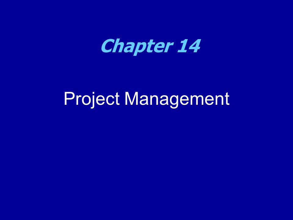Project Management Chapter 14