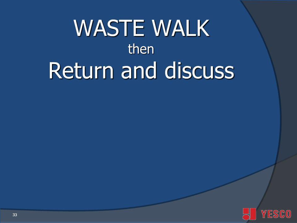 33 WASTE WALK then Return and discuss