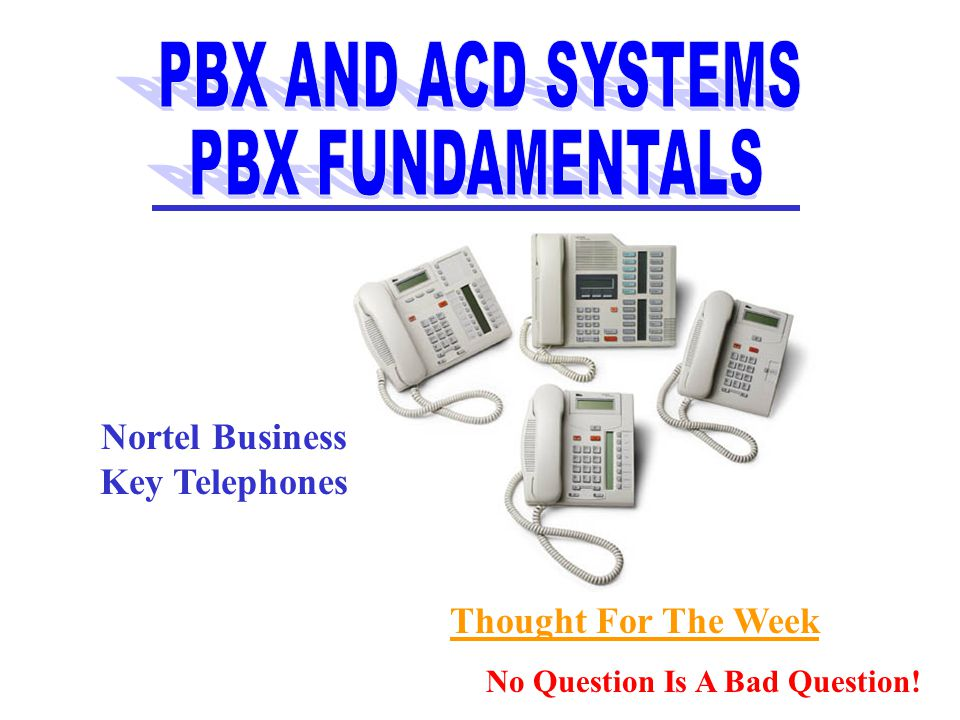 Telephone Sets Are Designed To Work With A Particular PBX System.
