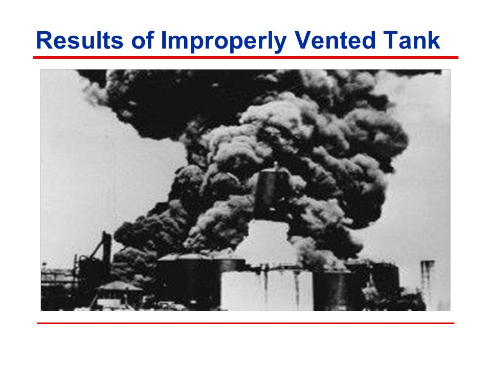 Results of Improperly Vented Tank