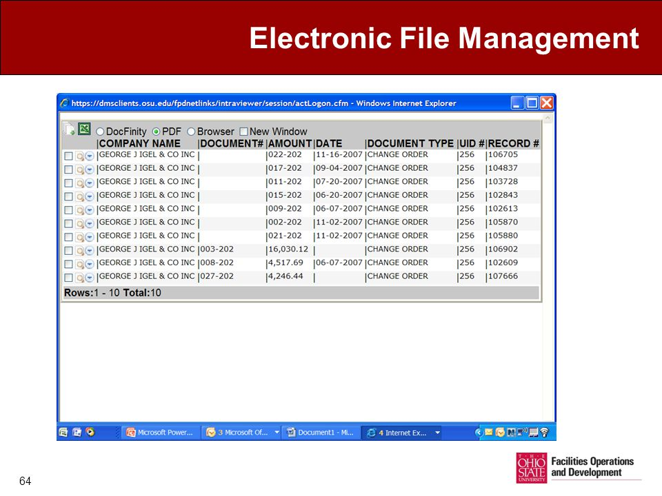 Electronic File Management 64