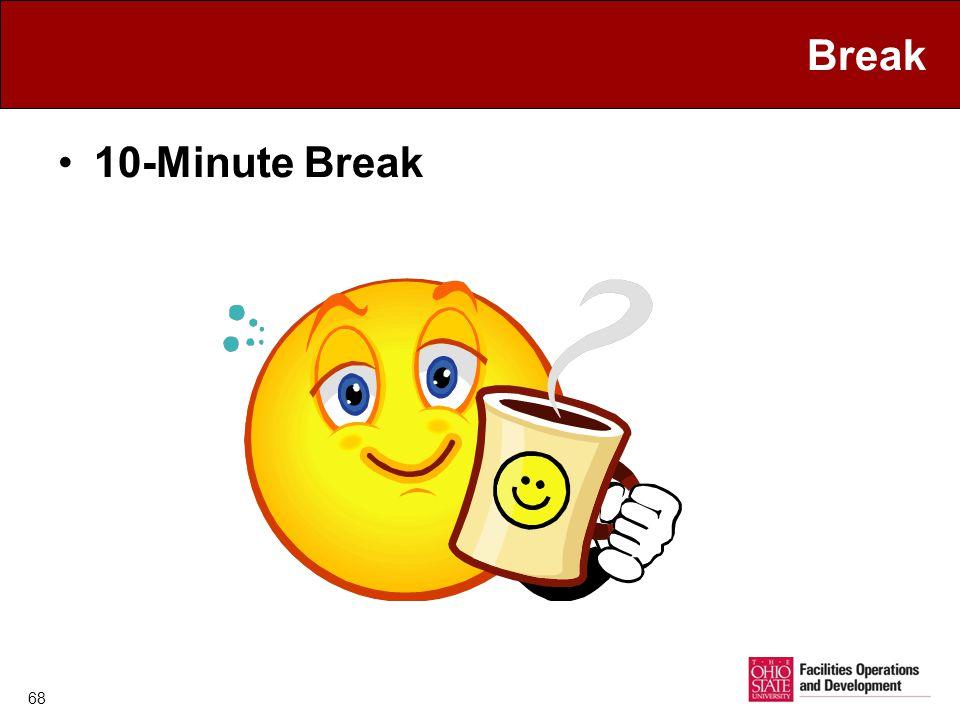 Break 10-Minute Break 68