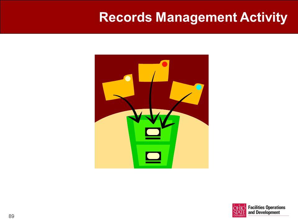 Records Management Activity 89