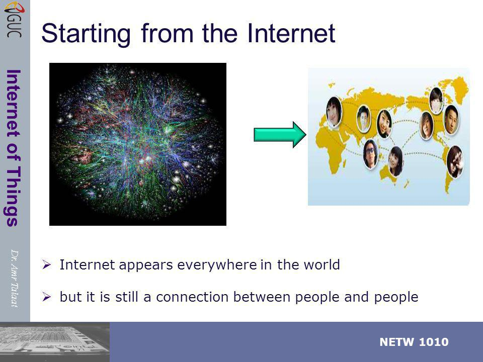 Dr. Amr Talaat NETW 1010 Internet of Things EVERY Where