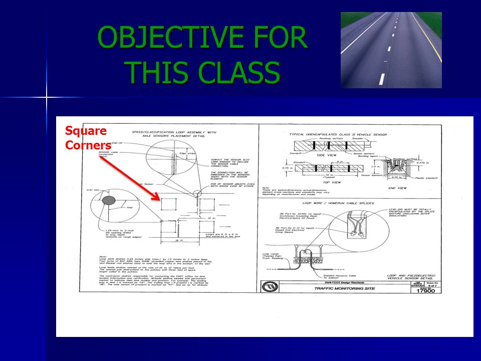 OBJECTIVE FOR THIS CLASS Square Corners