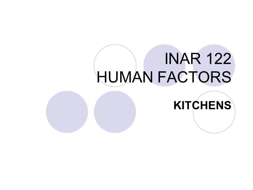 INAR 122 HUMAN FACTORS KITCHENS