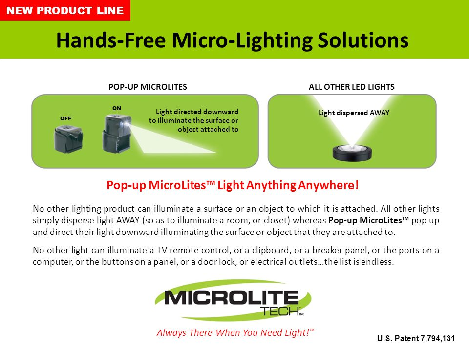 2 Nothing Like Pop-up MicroLites on the Market.